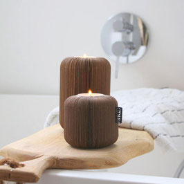 Fan tealight holder, natural