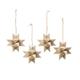 Set of 4 Deko Star Natural