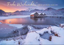 "Weihnachtskarte ""Winter am Kochelsee"""