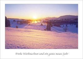 """Weihnachtskarte """"Blick ins Werdenfelser Land"""""""