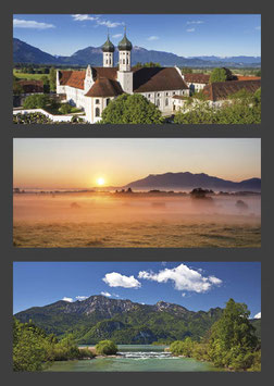 "Postkarte ""Kloster Benediktbeuern | Sonnenaufgang | Loisach"""