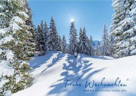 """Weihnachtskarte """"Winter im Wetterstein"""""""