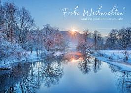 """Weihnachtskarte """"Winter an der Loisach"""""""