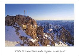 """Weihnachtskarte """"Gipfelkreuz auf der Zugspitze"""""""