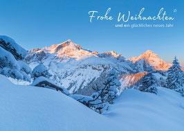 """Weihnachtskarte """"Wintersonne auf der Alpspitze"""""""