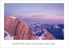 """Weihnachtskarte """"Gipfel der Zugspitze im Winter"""""""