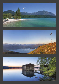 "Postkarte ""Walchensee | Blick vom Jochberg | Kochelsee"""