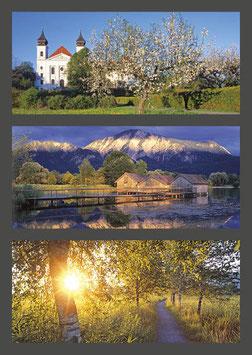 "Postkarte ""Kloster Schlehdorf | Kochelsee | Am Kochelsee"""