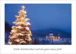 """Weihnachtskarte """"Kloster Ettal zur Weihnachtszeit"""""""