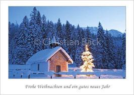 "Weihnachtskarte ""Kapelle in Elmau"""