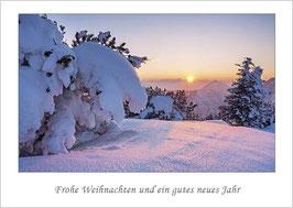 """Weihnachtskarte """"Sonnenuntergang auf dem Herzogstand"""""""