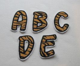 Tiger- Buchstaben     5 Stck.