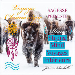 """Album """"Stong Mind Voyages Intérieurs"""" - Shamanic Drum Journeys - Mp3 audio  - total duration 320mn - perform by Jérôme Rochelle (Aka Fly Jéronimo)"""