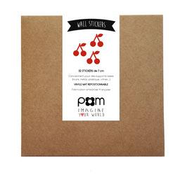 Box stickers cerises rouge