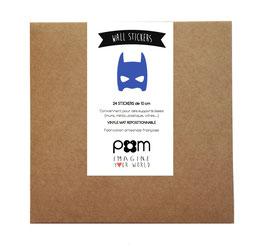 PLUS EN STOCK * Box stickers masque  héros bleu électrique