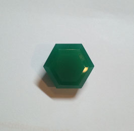13.15 Ct Amazing Natural  Columbian Hexagon Cut Green Emerald