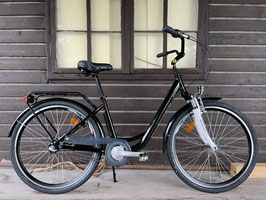 Glanzrad Aluminium 26'' RH42cm SCHWARZ mit Federgabel Citybike