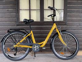 Glanzrad Aluminium 26'' RH42cm Gelb Citybike