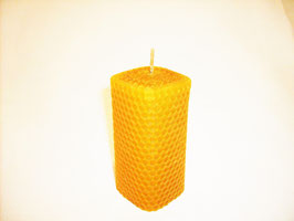 Bougie carrée en pure cire d'abeille 10 cm