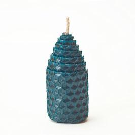 Bougie conique couleur bleu