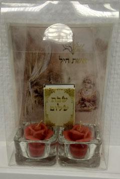 pack bougie rouge fleur et echet hail