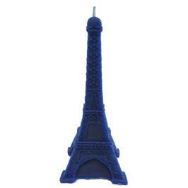 Lot de 3 bougies bleu blanc rouge en forme de tour Eiffel