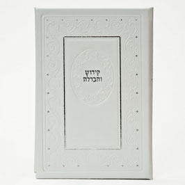 Magnifique livre  en cuir  kiddouch et havdala