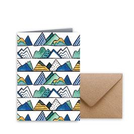 """Glückwunschkarte """"Berge"""""""