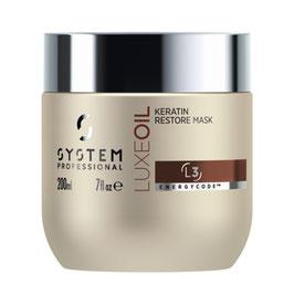 SP EnergyCode™ LuxeOil Keratin Maske 200ml – L3 • Restrukturiert die Haarfaser
