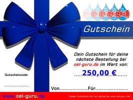 Gutschein über 250,00 €