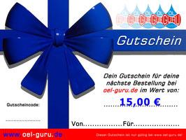Gutschein über 15,00 €