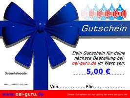 Gutschein über 5,00 €
