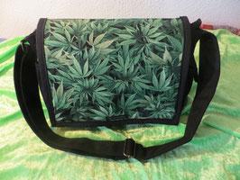 Tasche Cannabis schwarz
