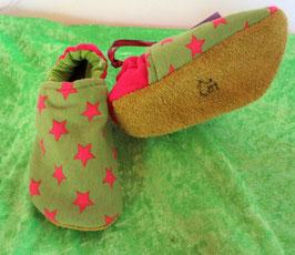 Puschen Stern pink