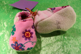 Puschen Blumen rosa