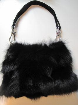 Fuchs Felltasche schwarz