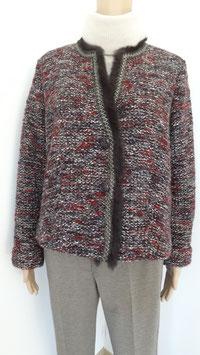 Tweed Kurzblazer mit Fell von Riani Gr.42