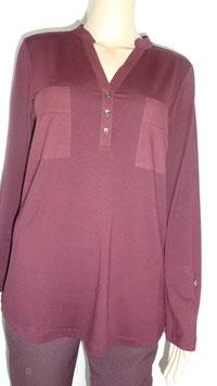 Langarm Shirt weinrot von Sani Blu Gr. 42