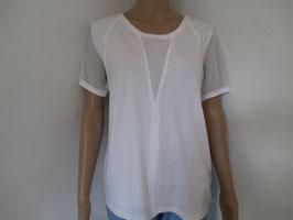 Shirt uni weiß von Margittes Gr. 42