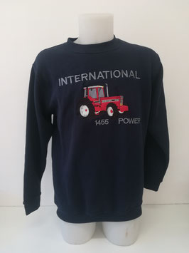 Sweat bleu marinne brodé 1455 power