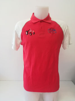 Polo rouge et blanc broderie 523 coeur TS