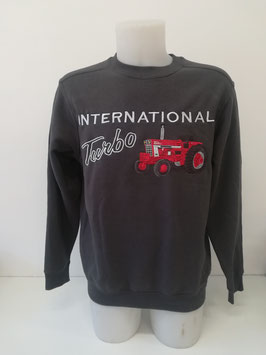 sweat gris brodé turbo TM