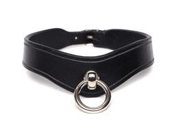 02 - Halsband - Ring der O - Mittelbreit - schwarz