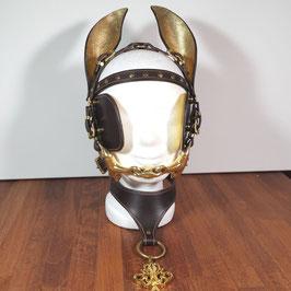Ponyzaumzeug Braun - Gold
