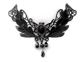 Spitzencollier ''Black Rose''