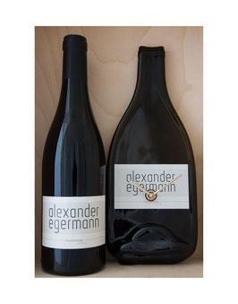 Weinflaschenuhr Weingut Alexander Egermann Chardonnay reserve 2016 exkl Wein...!