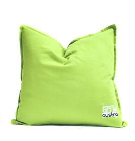 "Pillow Creative Timen Austria ""Green like the grass"" embroidered Logo"