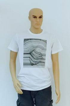 "T-Shirt Uni Sex ""Hand in Hand"" Black&White"