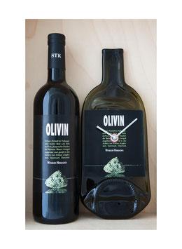 """weinflaschenuhr weingut winkler-hermaden """"olivin"""" exkl wein...!"""