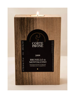 Solid wood lantern with your desired label ...!